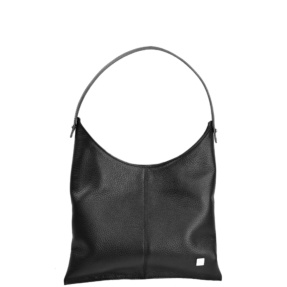 Deia black leather bag
