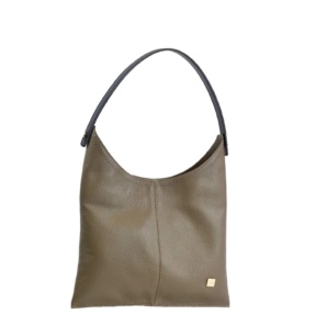 Taupe Hobo Bag. Deia