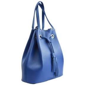 blue leather sac handbag