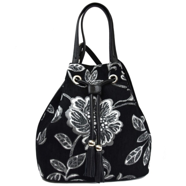 black and white sac bag