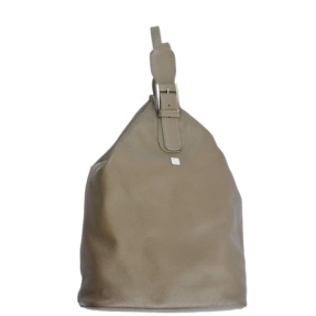 Taupe Backpack. Mia