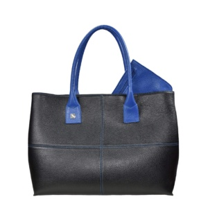 Black and Blue Tote Bag. Natalia L