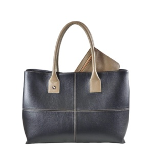 Black and Taupe Tote Bag. Natalia L