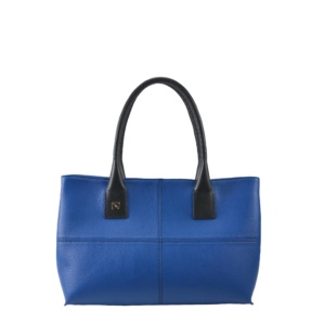 Blue and Black Tote Bag. Natalia S