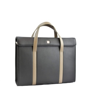 Black & Taupe Briefcase. Executive