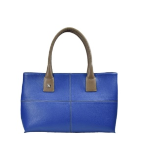 Blue and Taupe Tote. Natalia S