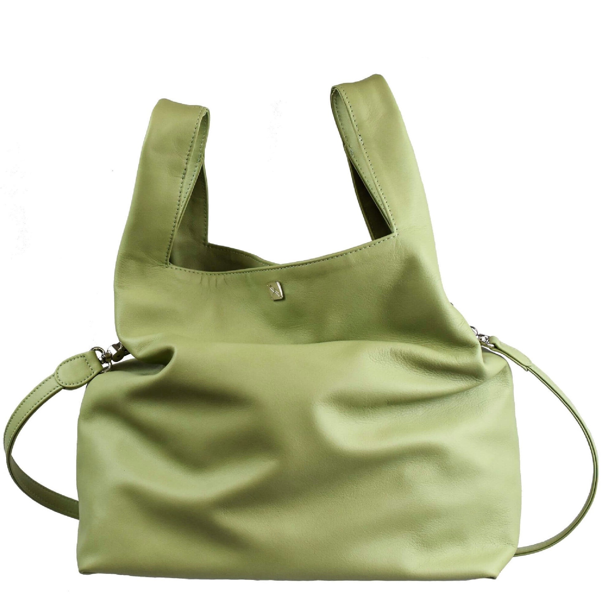 Green Mint Shopping Bag - Leather Handbags| TARA´S