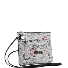 Black and Jacquard Crossbody. Palma