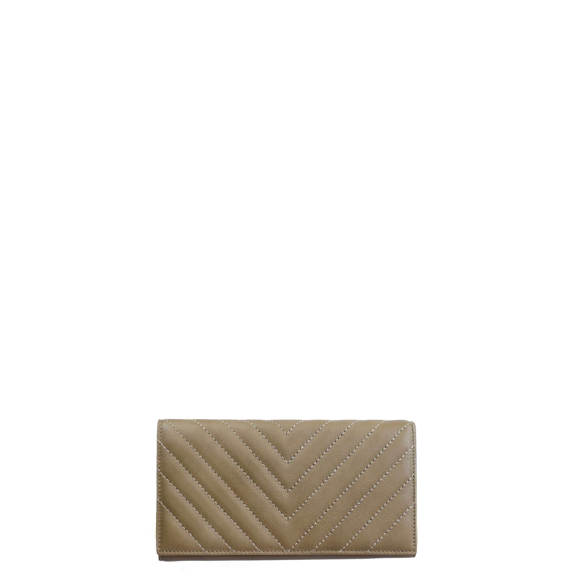 Leather Taupe Wallet