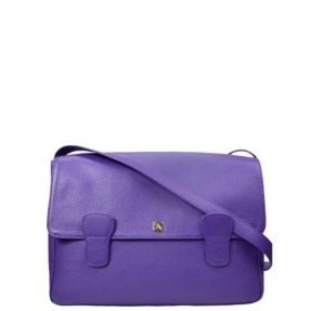Alexandra Purple Messenger Bag