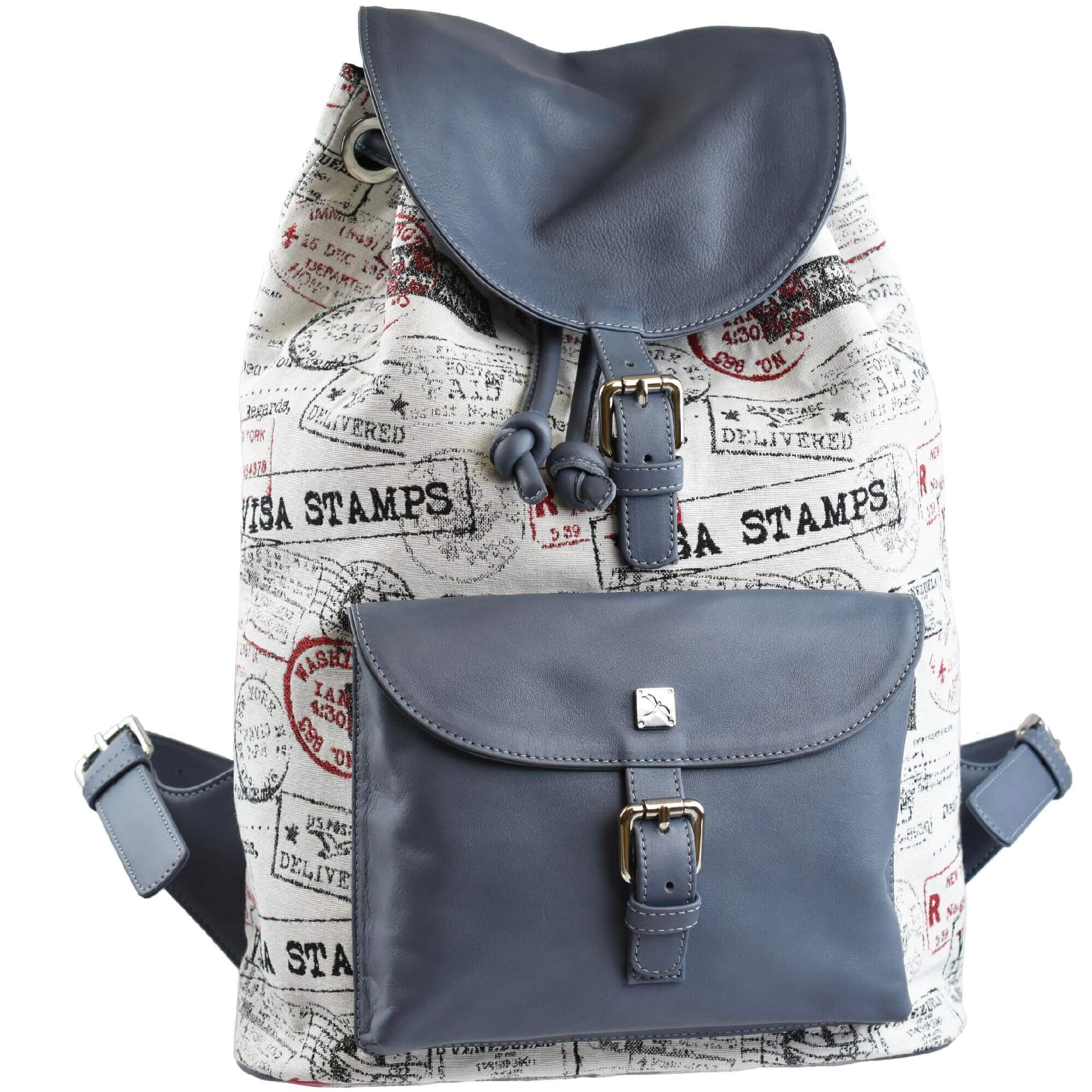 Jacquard and leather backpack. Backpacks | TARA´S