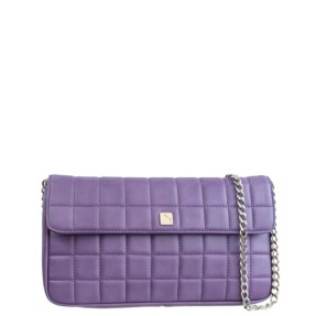 Lavender Matelassé Quilt and Chain Crossbody - Leather Handbags | TARA´S