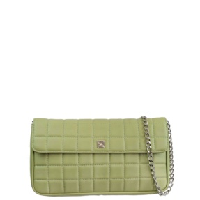 Mint Green Matelassé Quilt and Chain Crossbody - Leather Handbags | TARA´S