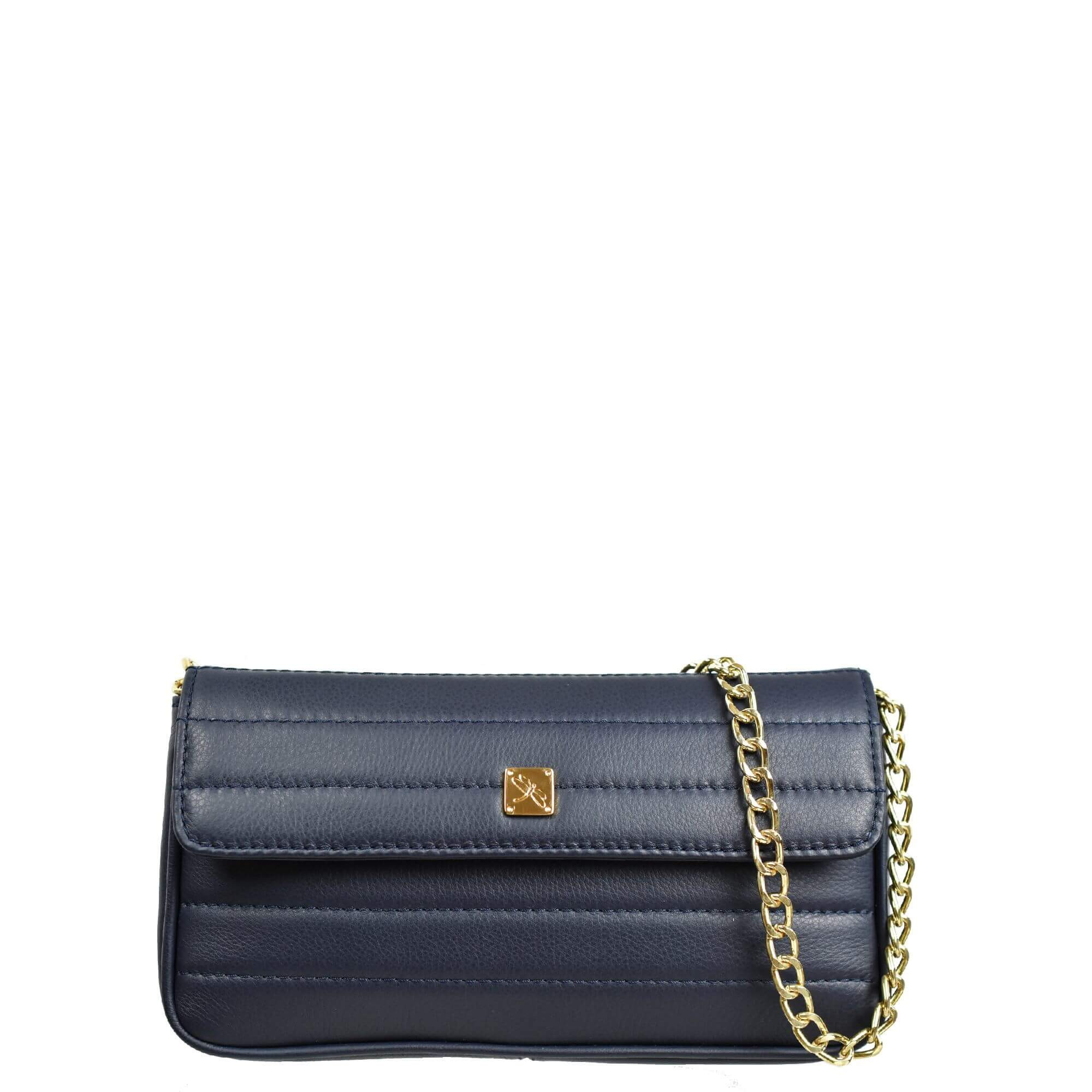 Navy Blue Mini Crossbody with Chain. Viena S