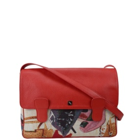 Alexandra Jacquard Red Messenger