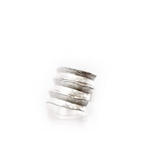 NEW - Big Silver Color Ring