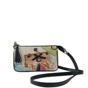 Bea Jacquard - Black Crossbody Bag