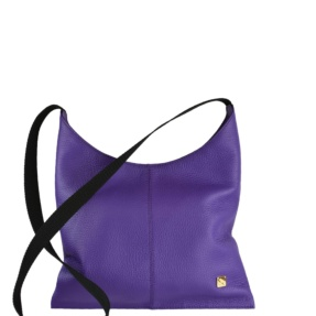 NEW - Purple Leather Crossover Bag. Deia