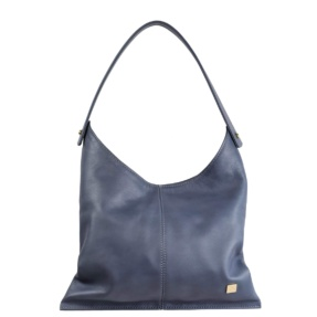 Stone Blue Hobo Bag - Leather Handbags | TARA´S