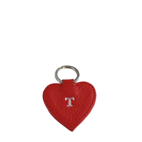 Red Leather Keyring