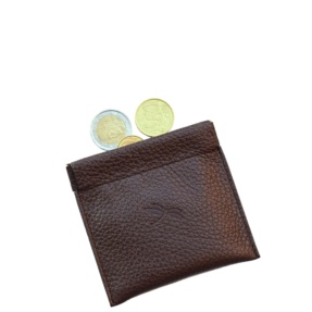 Brown coin pouch