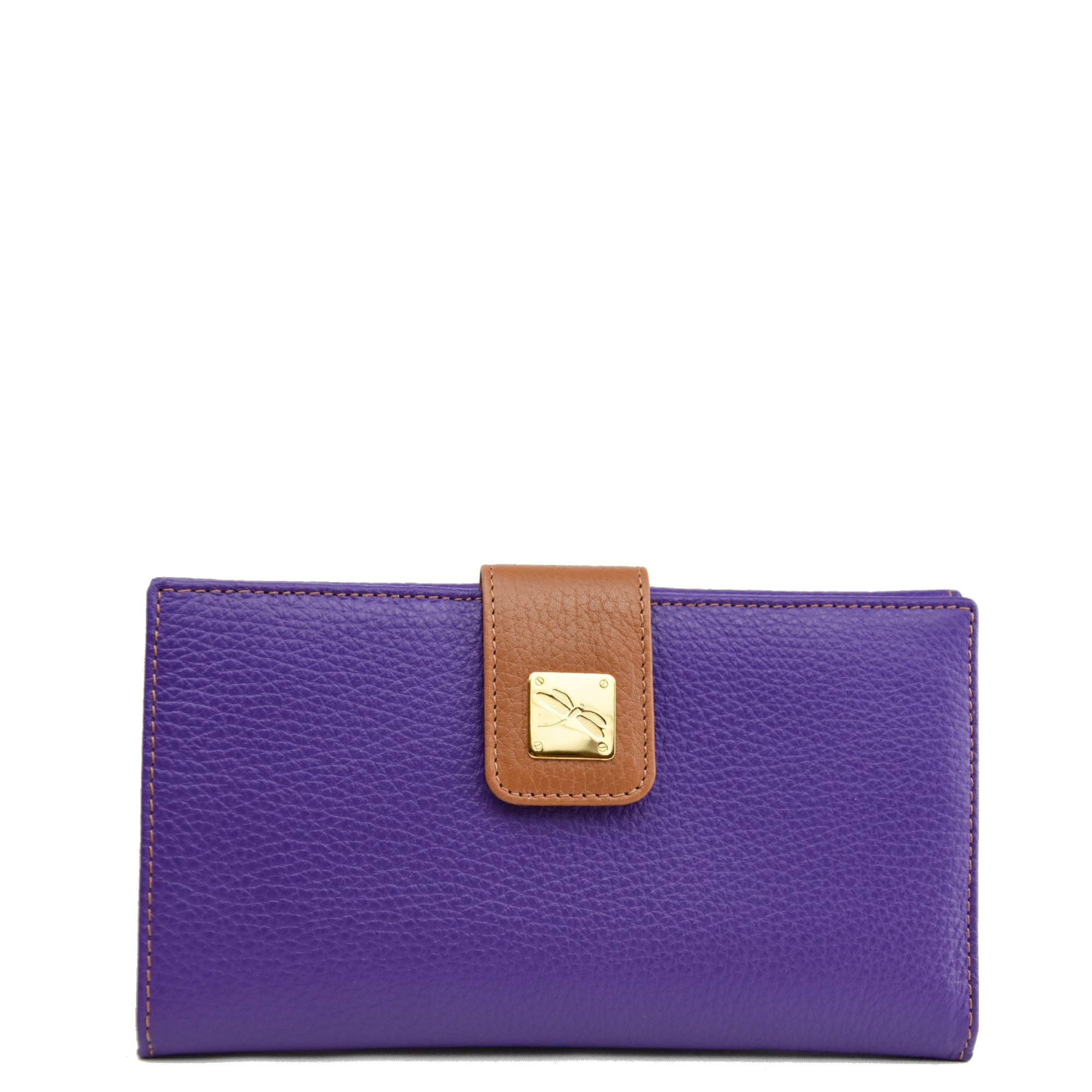 Leather Purple Wallet
