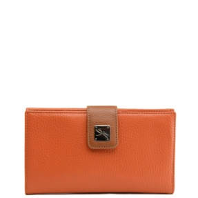 Leather Orange Wallet