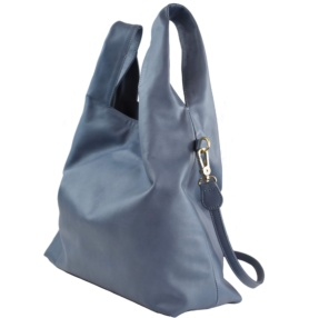 Stone Blue Shopping Bag - Leather Handbags| TARA´S