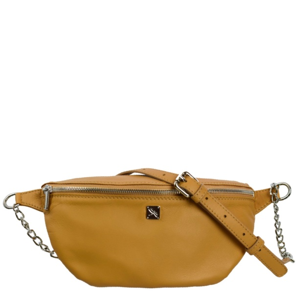 Camel Leather Fanny Pack- Leather Handbags | TARA´S