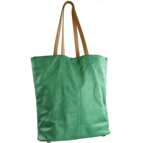 green leather shopping bag tara's handbags mallorca