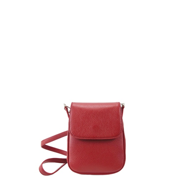 Pretty mini crossbody to match any look, designed and carefully made in Tara's Atelier. Made with Italian leather and soft skin inside. Cover with magnetic closure, long strap.