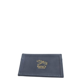 NEW - Stone Blue Leather Cardholder