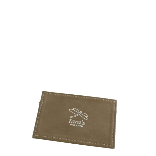 Taupe Leather Cardholder