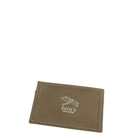 NEW - Taupe Leather Cardholder