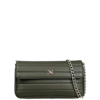 Green Mini Crossbody with Chain. Viena S