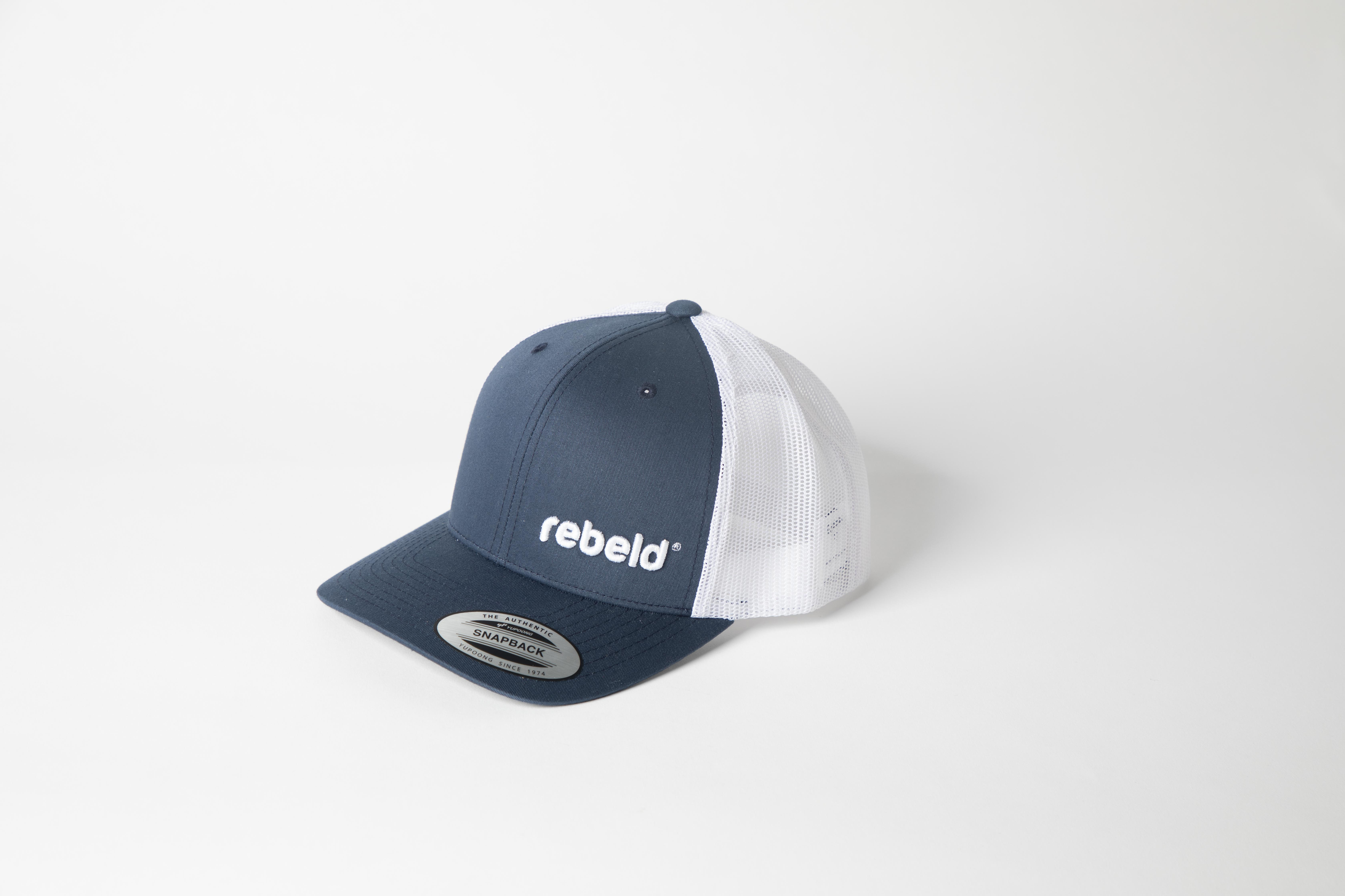 Original White & Navy Blue Cap