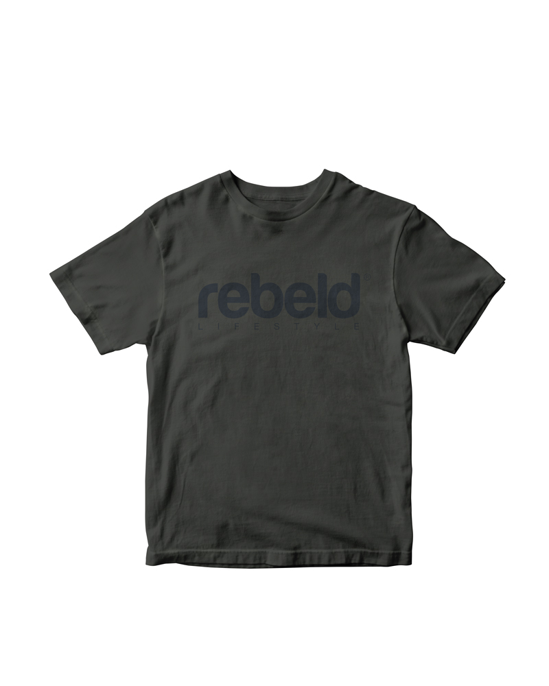 Camiseta rebeld washed carbón