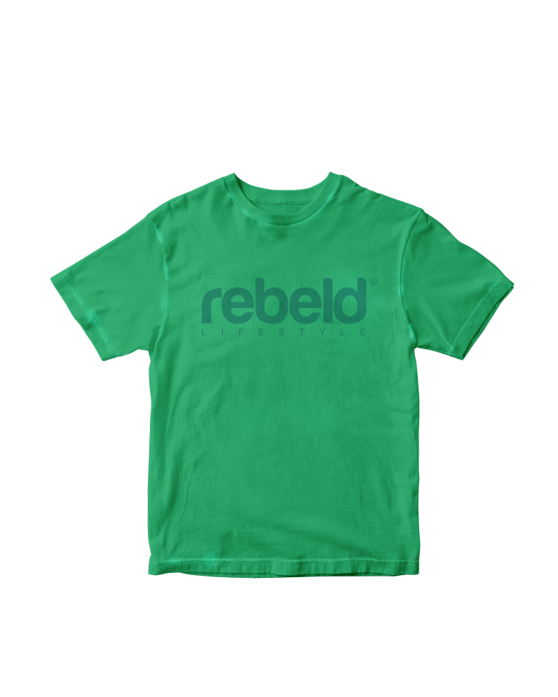 Camiseta rebeld washed verde