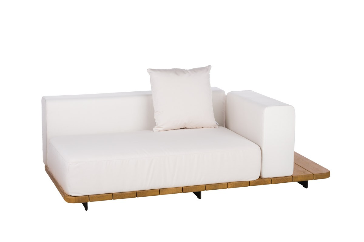 BASE + DOUBLE SEAT + DOUBLE BACK + LEFT ARM TO THE RIGHT