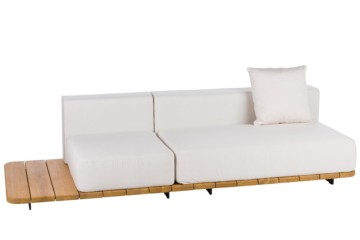 BASE + DOUBLE SEAT AND BACK + SINGLE LEFT SEAT AND BACK