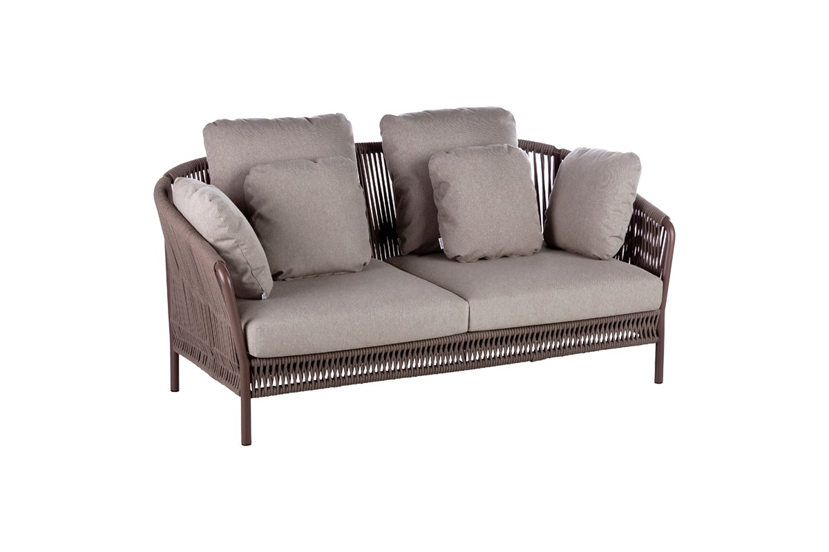 2 SEATER SOFA + TAUPE ROPE
