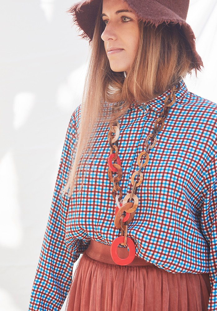 Collar Cadena Carey Rojo