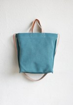 Bolso Shopper Reversible Cuadros Azul 3