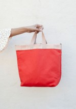 Bolso Shopper Reversible Coral 5