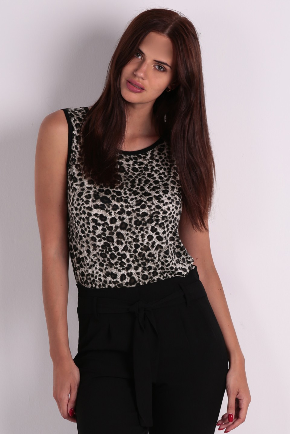 Camiseta estampado leopardo