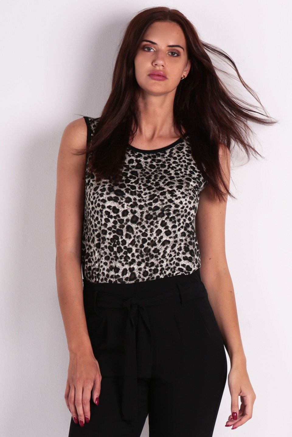 Camiseta estampado leopardo 1