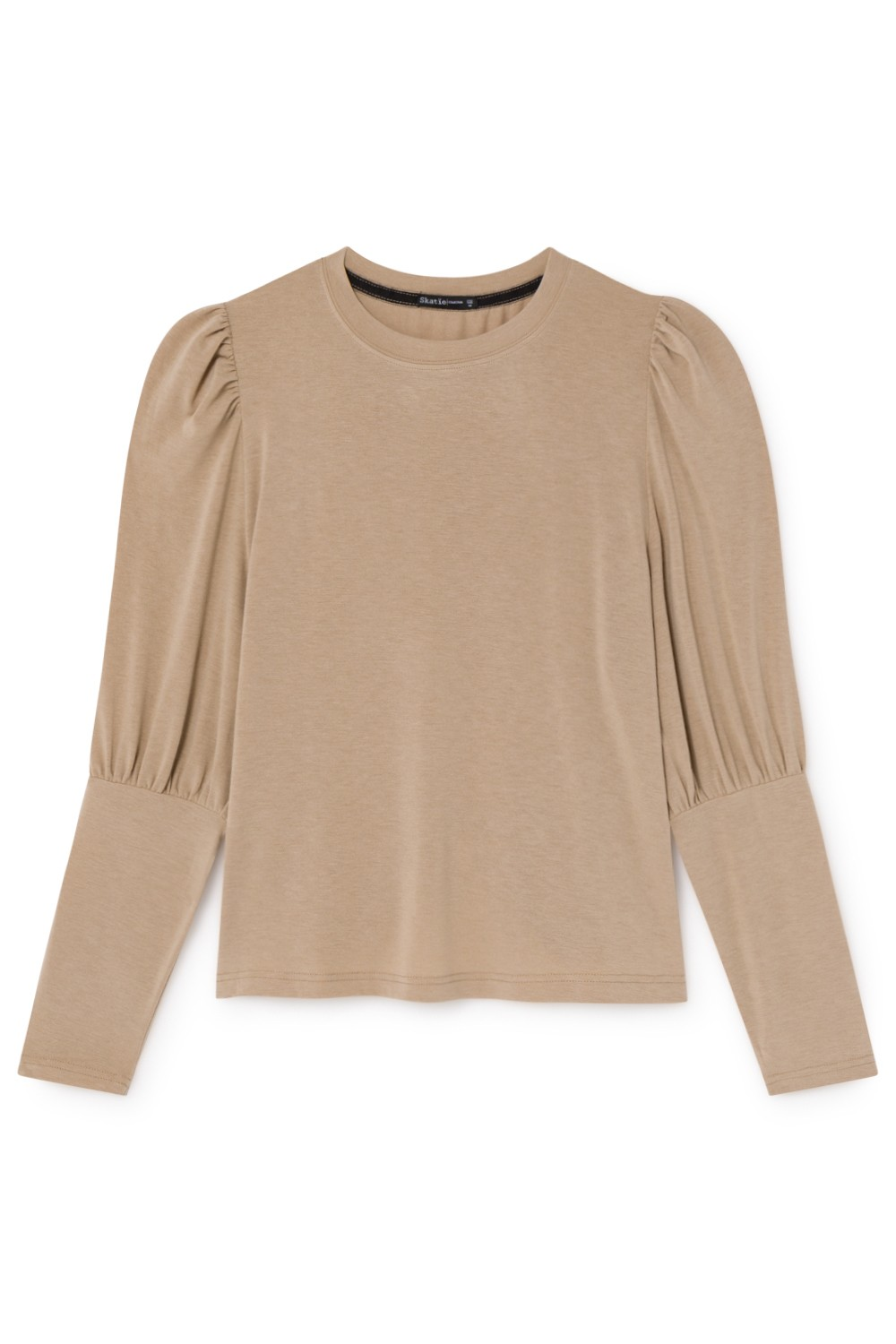 T-SHIRT MANGA BISHOP AJUSTADA BEIGE-L