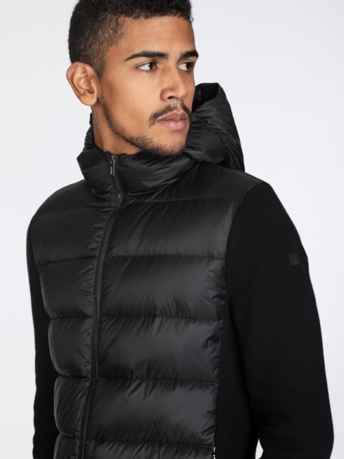 KNIT HYBRID DOWN HOOD ZIP 10