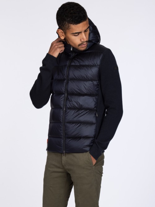 KNIT HYBRID DOWN HOOD ZIP 60