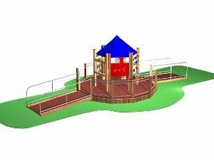 Parque infantil Carrusel discapacitados